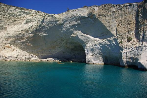 Kleftiko - caverne di gesso dalla barca
