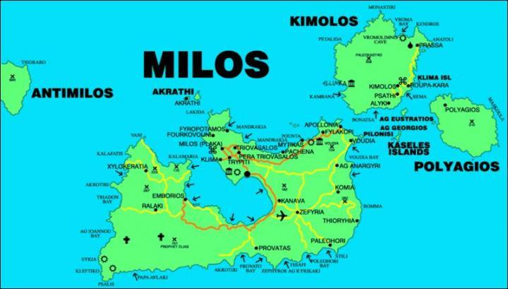 Milos Kimolos Mappa Cicladi