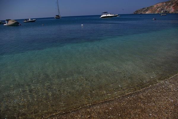 Paliochori spiaggia striscia mare azzurro