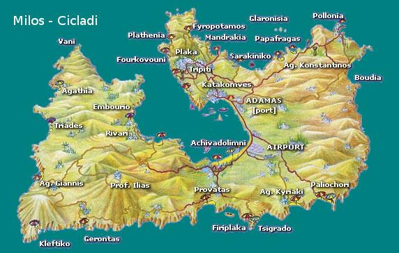 Milos mappa